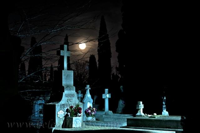 Noche en el cementerio.